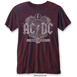AC/DC Men's Fashion Tee: Black Ice (Burn Out)