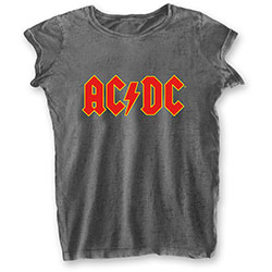 AC/DC Ladies Tee: Logo (Burn Out)