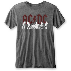 AC/DC Unisex Tee: Silhouettes (Burn Out)