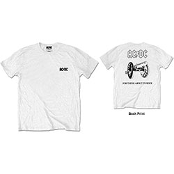 AC/DC Unisex Tee: About To Rock (Back Print/Retail Pack)