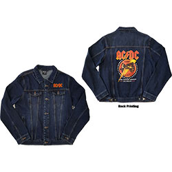 AC/DC Unisex Denim Jacket: About To Rock (Back Print)