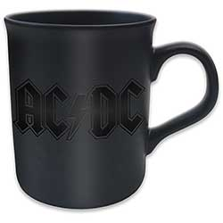 AC/DC Boxed Premium Mug: Classic Logo with Black Matt Finish