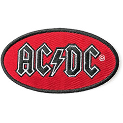 AC/DC Standard Patch:Oval Logo (Embroidered)