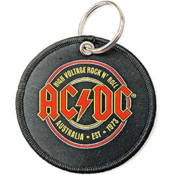 AC/DC Keychain: Est. 1973 (Double Sided Patch)