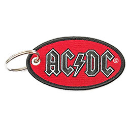 AC/DC Keychain: Oval Logo (Double Sided Patch)