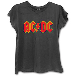 AC/DC Ladies Fashion Tee: Classic Logo (Skinny Fit)