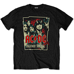 AC/DC Unisex Tee: Highway To Hell Sketch
