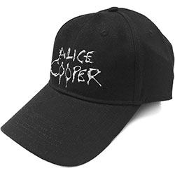 Alice Cooper Unisex Baseball Cap: Dripping Logo (Sonic Silver)