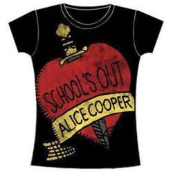 Alice Cooper Ladies Tee: School's Out with Skinny Fitting