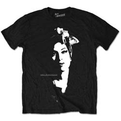 Amy Winehouse Unisex Tee: Scarf Portrait