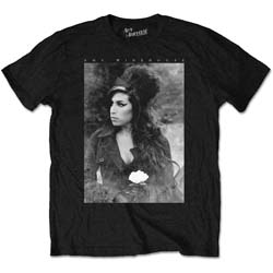 Amy Winehouse Unisex Tee: Flower Portrait