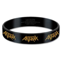 Anthrax Gummy Wristband: Logo