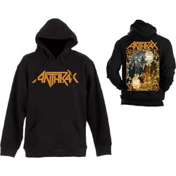 Anthrax Men's Pullover Hoodie: Evil Twin  with Back Printing