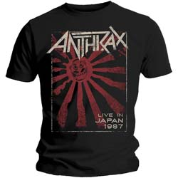 Anthrax Unisex Tee: Live in Japan