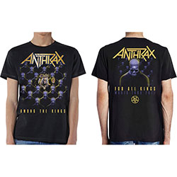 Anthrax Unisex Tee: Among the Kings (with Back Print)