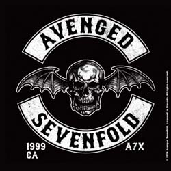 Avenged Sevenfold Single Cork Coaster: Death Bat Crest