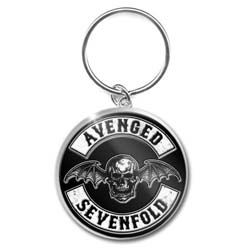 Avenged Sevenfold Keychain: Death Bat Crest (Enamel In-fill)