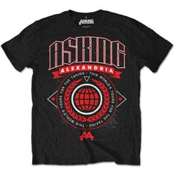Asking Alexandria Unisex Tee: This World (Retail Pack)