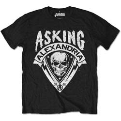 Asking Alexandria Men's Tee: Skull Shield (Retail Pack)