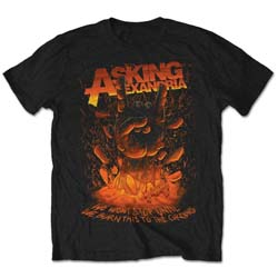 Asking Alexandria Men's Tee: Metal Hand (Retail Pack)