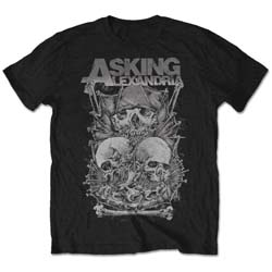 Asking Alexandria Unisex Tee: Skull Stack (Retail Pack)
