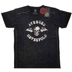Avenged Sevenfold Unisex Tee (Snow Wash): Logo