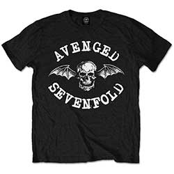 Avenged Sevenfold Kids Tee: Classic Deathbat