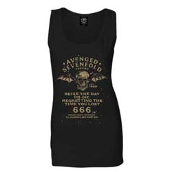 Avenged Sevenfold Ladies Vest Tee: Seize the Day