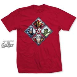 Marvel Comics Men's Tee: Avengers Assemble Diamond Characters