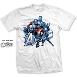 Marvel Comics Unisex Tee: Avengers Assemble Group