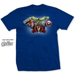 Marvel Comics Men's Tee: Avengers Assemble Character Fly