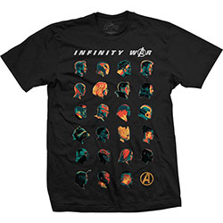 Marvel Comics Unisex Tee: Avengers Infinity War Head Profiles
