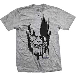 Marvel Comics Unisex Tee: Avengers Infinity War Thanos Head Black