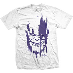 Marvel Comics Men's Tee: Avengers Infinity War Thanos Head Purple