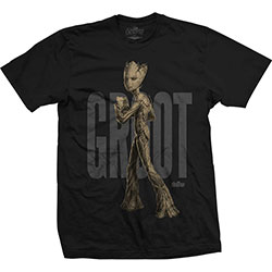 Marvel Comics Unisex Tee: Avengers Infinity War Teen Groot Text