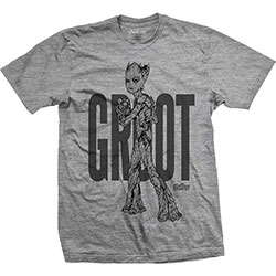 Marvel Comics Men's Tee: Avengers Infinity War Teen Groot Line Art