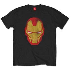 Marvel Comics Unisex Tee: Iron Man Distressed