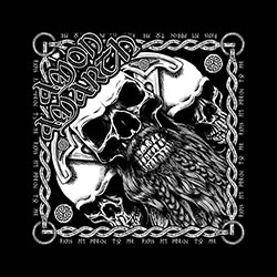 Amon Amarth Bandana: Bearded Skull