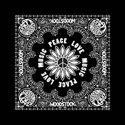 Woodstock Bandana: Peach, Love & Music