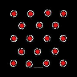 Red Hot Chili Peppers Unisex Bandana: Asterisk