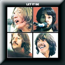 The Beatles Pin Badge: Let it Be