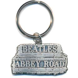 The Beatles Standard Keychain: Abbey Road Sign in relief