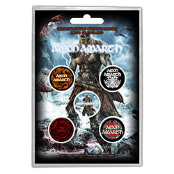 Amon Amarth Button Badge Pack: Jomsviking