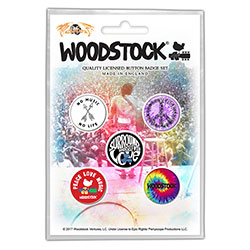 Woodstock Button Badge Pack: Surround Yourself