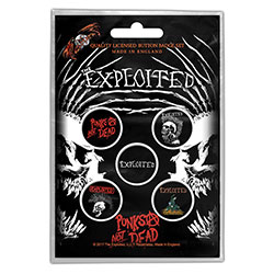 The Exploited Button Badge Pack: Punks Not Dead (Retail Pack)