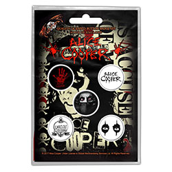 Alice Cooper Button Badge Pack: Eyes