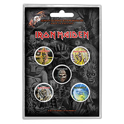Iron Maiden Button Badge Pack: The Faces of Eddie (Retail Pack)