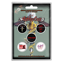 Motley Crue Button Badge Pack: Dr Feelgood (Retail Pack)