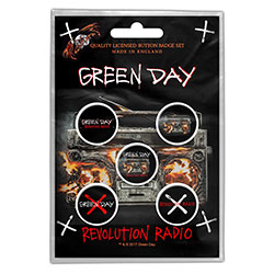 Green Day Button Badge Pack: Revolution Radio (Retail Pack)