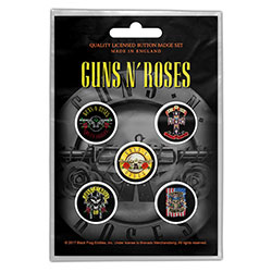 Guns N' Roses Button Badge Pack: Bullet Logo